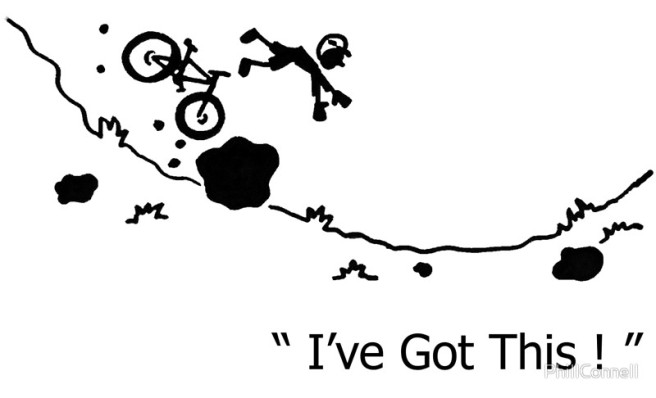 Mtn Bike Crash Cartoon